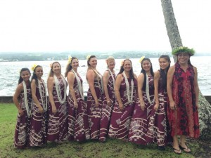 The Ladies of Hula Halau O Kou Lima Nani E at Moku'ola
