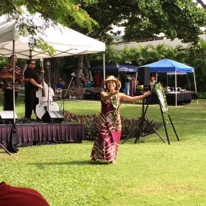 Kumu Hula Iwalani Kalima at Keauhou E Mau Ana Celebration 2014